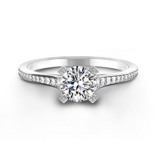 Cornerstones® Pavé Solitaire Diamond Ring