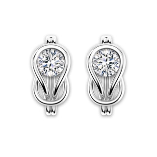 Encordia® Solitaire Circle Earrings