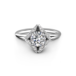 Forevermark Eternal Collection™ Solitaire Pave Ring
