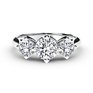 Forevermark Setting® Three Diamonds Plain Ring