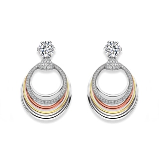Millemoi™ Solitaire Pavé Earrings