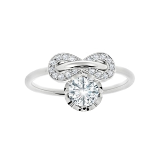 Endlea™ Collection Solitaire Pavé Ring